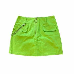 Neon mini skirt size S